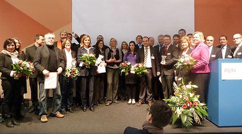 Die Preisträger des digita 2012 - Bild: bikl.de