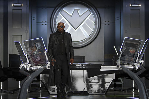 "S.H.I.E.L.D. Boss Nick Fury in ""Marvels The Avengers"""
