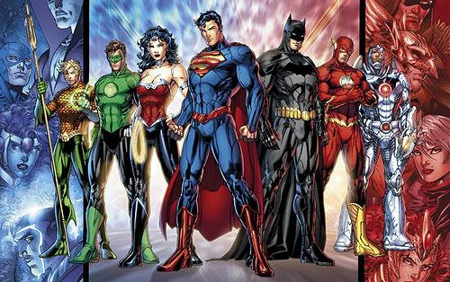 Die aktuelle Version der Justice League von DC Comics