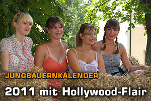 Jungbauernkalender: 2011 mit Hollywood-Flair