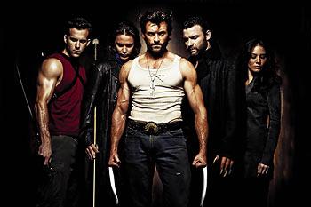 Von links nach rechts: Deadpool, Gambit, Wolverine, Sabretooth, Silver Fox