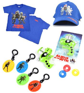 Schlüsselanhänger, T-Shirt, Baseball Kappe und Disc Launcher!