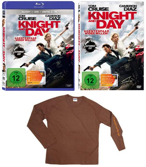 DVD, Blu-ray und T-Shirt