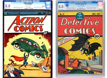 Action Comics 1 & Detective Comics 27