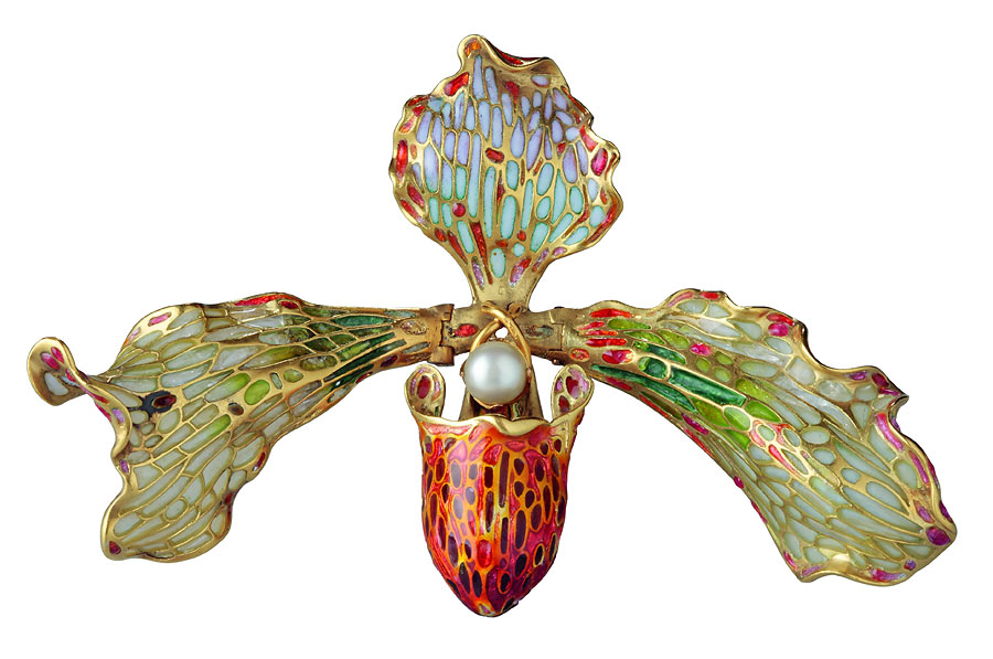 ORCHIDEENBROSCHE, UM 1902-19052