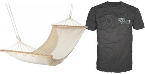 T-Shirt und Hängematte